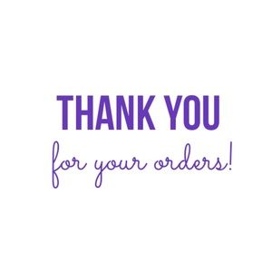 Hi! Thank you for your purchases!😍